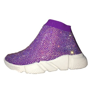 China Wholesale Women Shoes Colorful Custom Rhinestone Sneaker Shoe