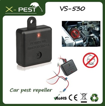X-pest VS-530 Ultrasonic Pest Rodent Rat Mouse Mice Repeller for car, vehicles, trucks.12V-DC.Humane method!