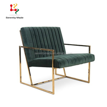 Modern gold reclining styling velvet chair frames with stainless steel frame