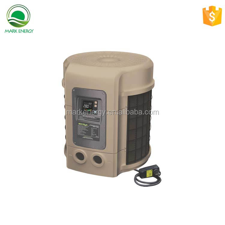 PVC shell swimming pool heater air to water heat pump inverter with low power circulation pump