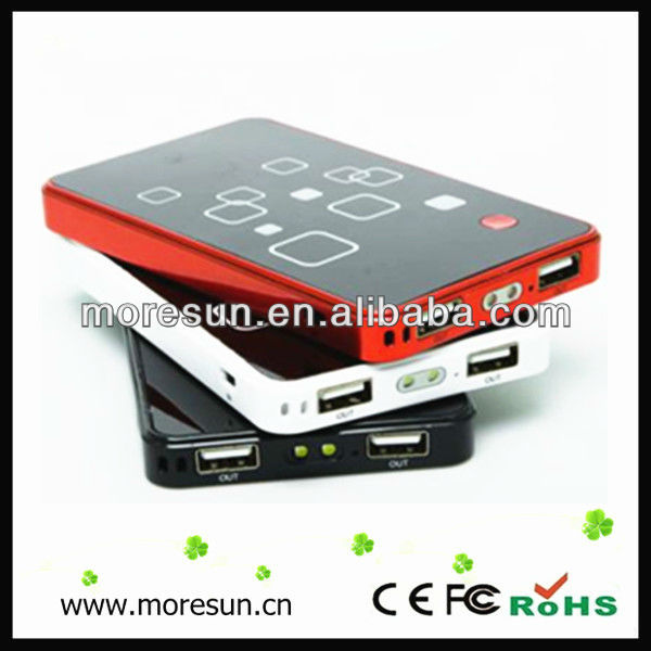 Hot Low price 6000mA power bank blackberry U-P1086 two outlets for ipod/iphone,CE/FCC/ROHS