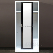 Wholesale Custom Made Furniture Black Painted Glass Wardrobe Closet Systerm Bedroom Sliding Door Wardrobe