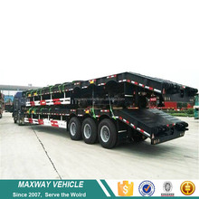 High quatily excavator transporter lowbed trailer for construction machinery