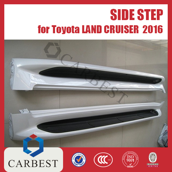 High Quality PP New Side Step With Light for Toyota Land Cruiser FJ200 2016