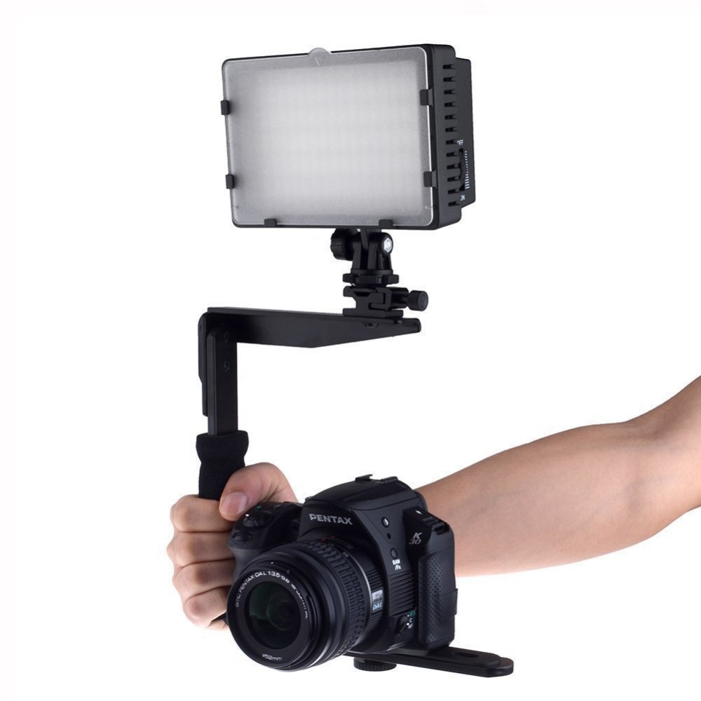 Camera Flash Mount Bracket - Quick Flip Rotating Flash Bracket for Digital SLR Cameras Point