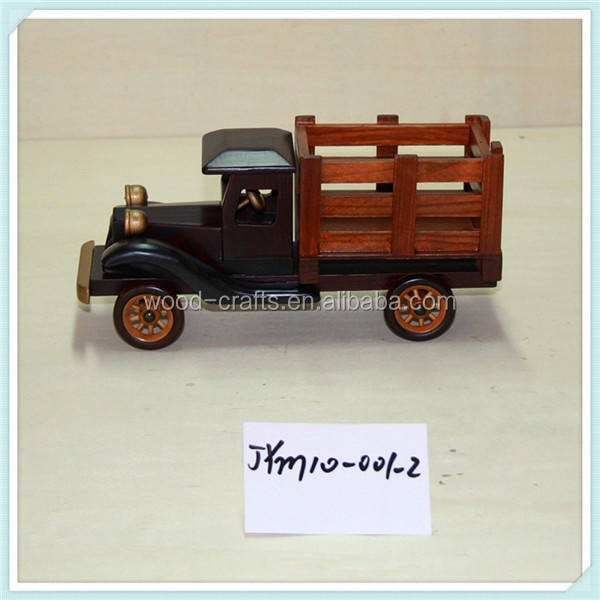 hand-crafted wood art- -10 inches antique model trucks high quality cheap price for holding gifts, candies, chocolate
