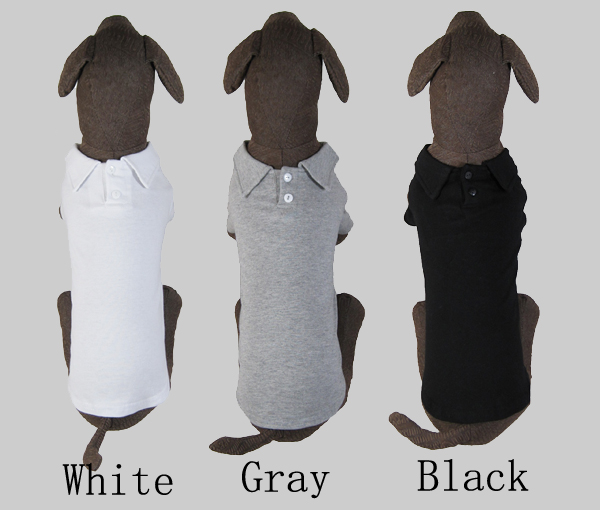 Pet Clothes Wholesale small Dog Clothing Larger Dog 2-button Blank POLO Shirt 2016 Summer