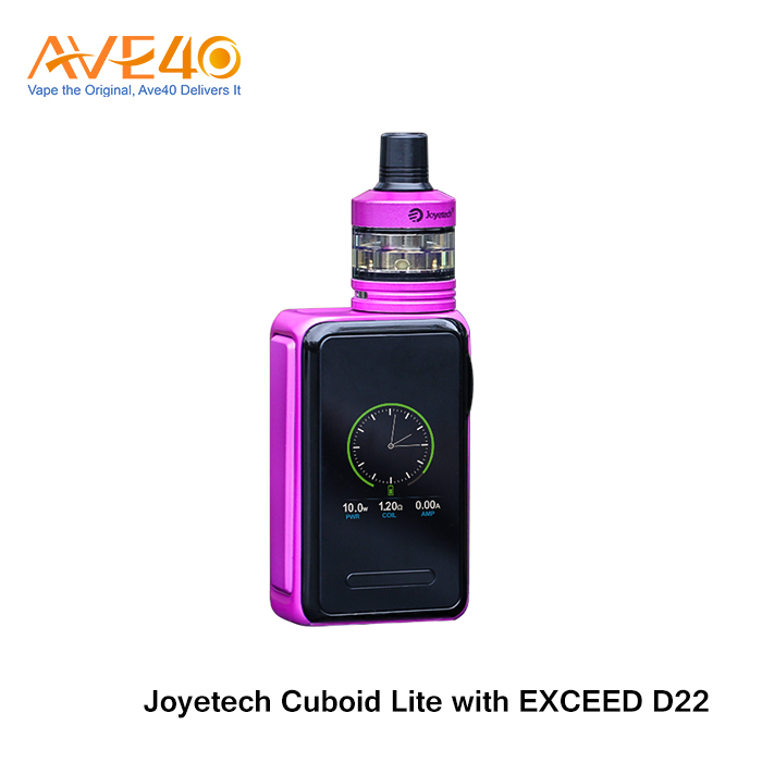 New Arrival Joyetech Cuboid Lite 80W Box Mod Kit with Exceed D22 Atomizer with 3000mAh battery