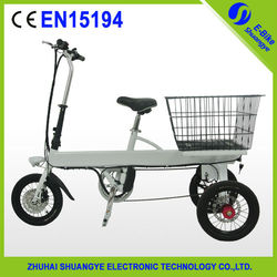 Lithium battery Adult folding electric cargo tricycle