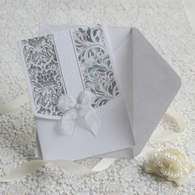 Hard Cover Great Handmade Border Wedding Invitations Greeting Card shipping on line