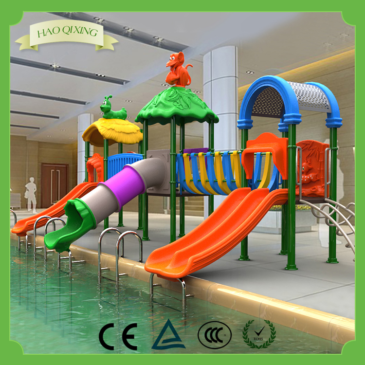 New arrail outdoor swimming pool water slide factory price