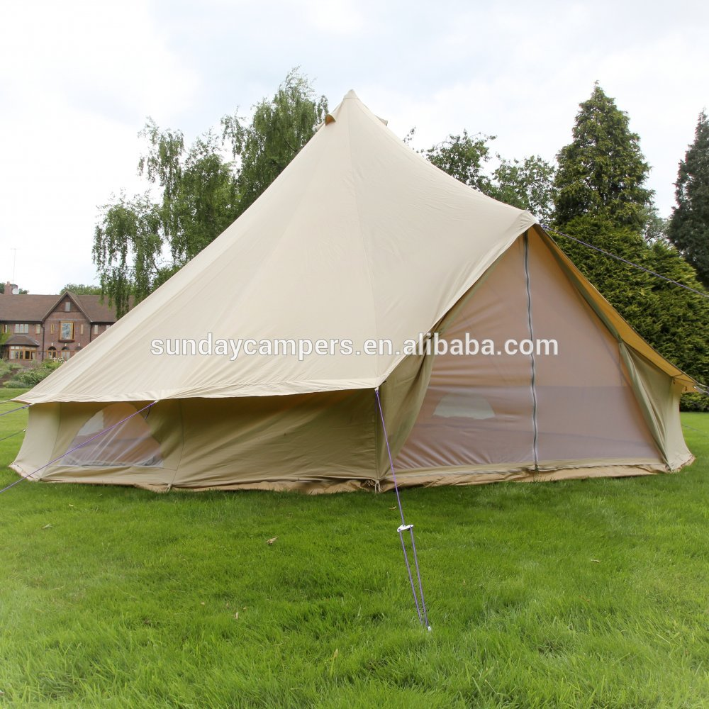 Easy carried beige color bell tent accessories dia 6m with high quality