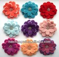 felt colorful flower button decoration for home design