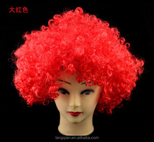 2018 Russia world cup football fans wig crazy hair synthetic wig for promotion events