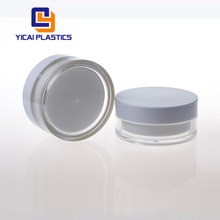 High End 100g Large Cylinder Acrylic Cosmetic Plastic Container