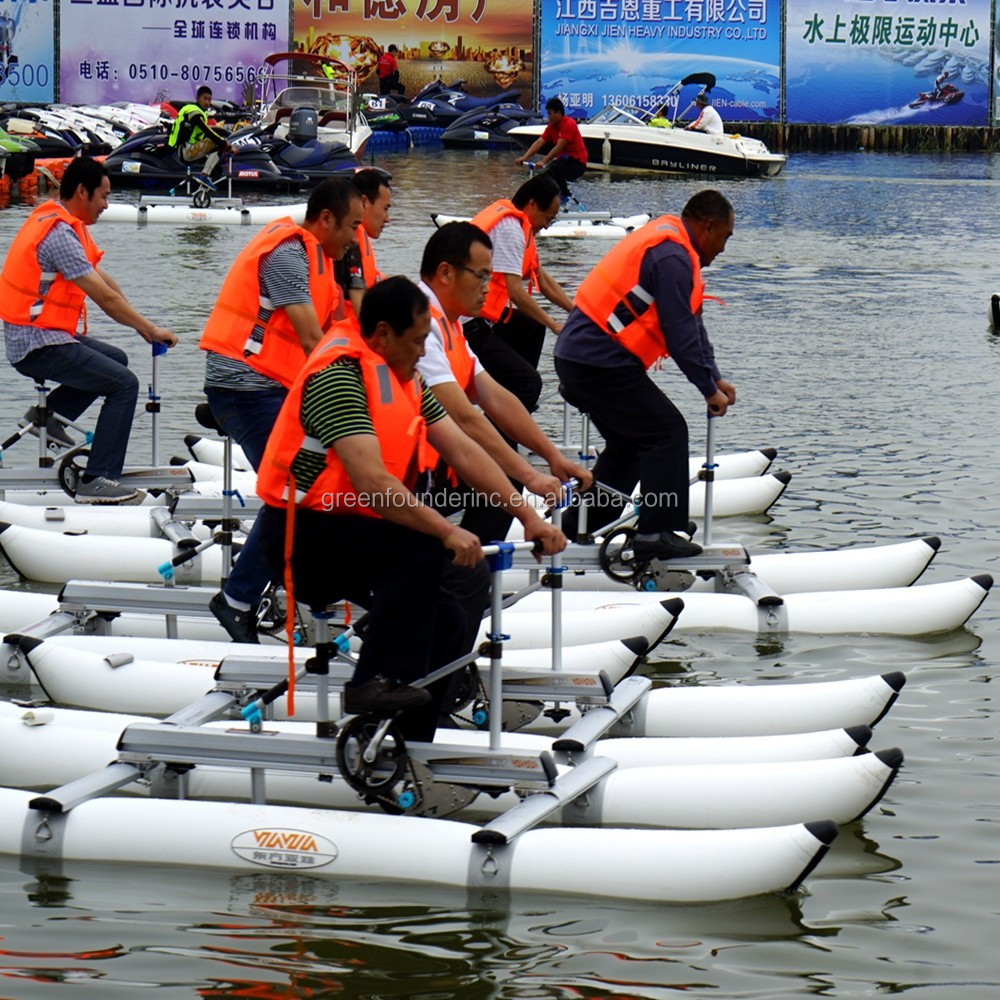 Water Bike Car floating water bike pedal boats for sale