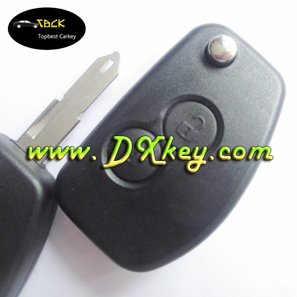 Best Price 2 button car key blanks key fob case for renault with 206 key blade flip key