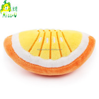 Wholesale Durable Cheeped Yellow Orange Plush Pet Toys For Pet Playing
