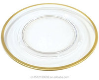 Gold rimmed cheap dinner plates Gold rim glass charger plates