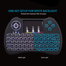 Hot sell Backlight Mini Keybaords 2.4G Wireless Mini Keyboard Mouse Touchpad Remote Control for HTPC Android TV Raspberry Pi 3