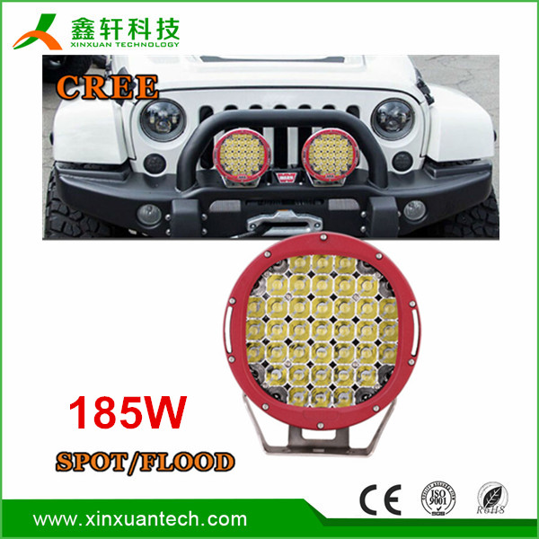 High quality 12v car ARB high intensity off-road 185w 9inch round led driving light