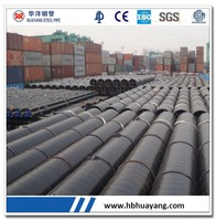ASTM A53Gr.B / API 5L Gr.B LSAW steel pipes / tubes sch 120 carbon steel pipe for building material