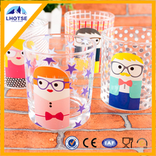 8oz OEM New Design Cartoon Painting Pictures Wholesale Glass Coffee Cup