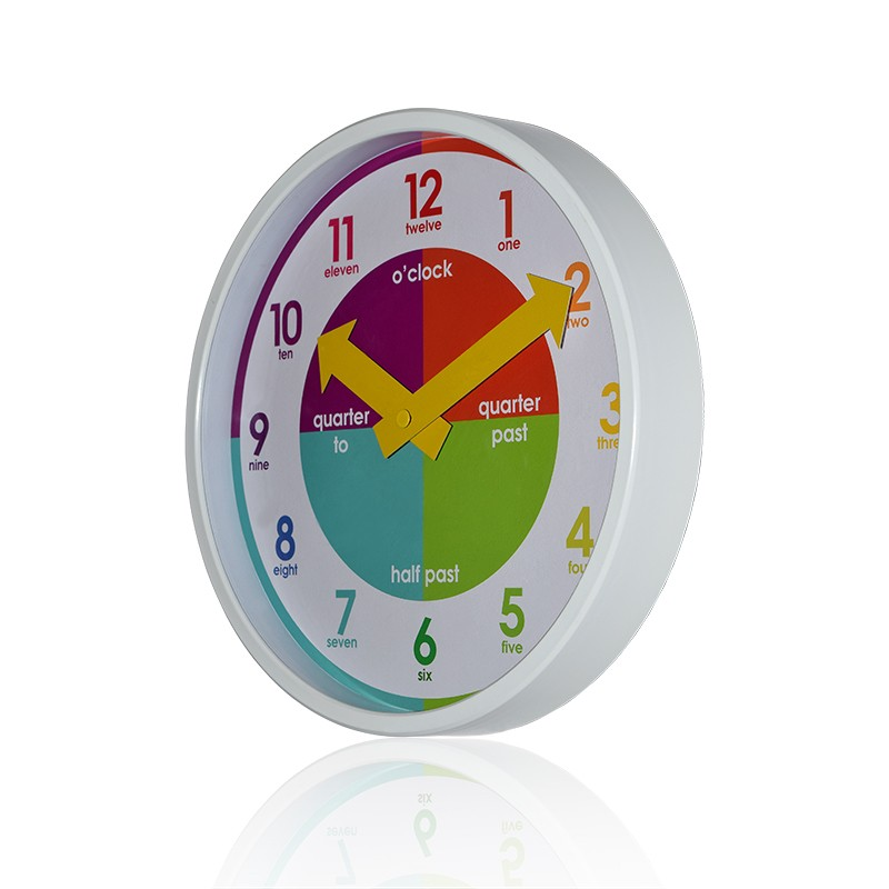 Kids Tell Time Wall Clock 23CM quartz clock movement