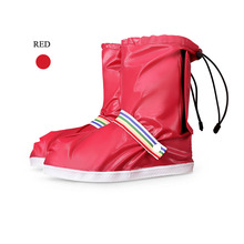 fashion design red lightweight plastic show waterproof shoe covers without zipper