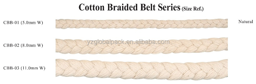 Natural Colour Cotton Braided Belt Cord