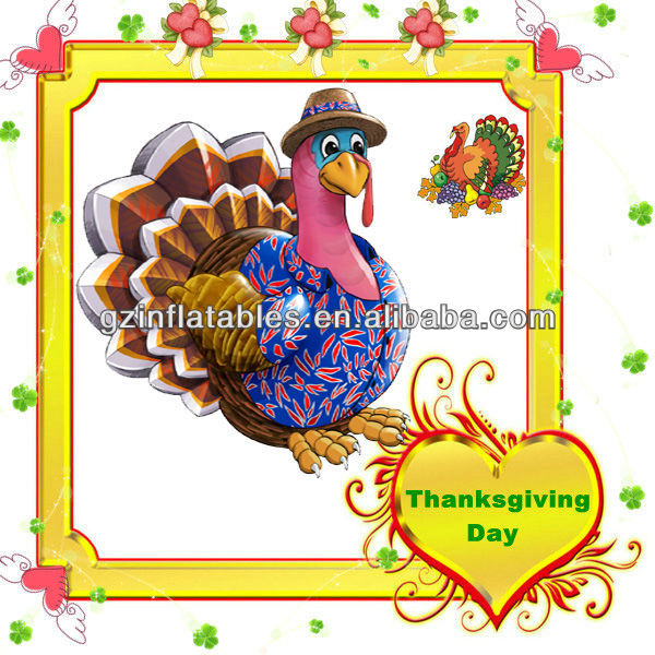 flower giant inflatable turkey cartoon model