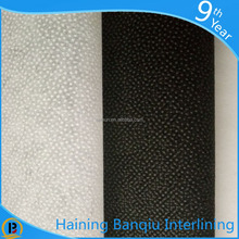 Wholesale nonwoven fusing interlining,garment fusible interlining fabric for wool coat, interlining for lady's suits