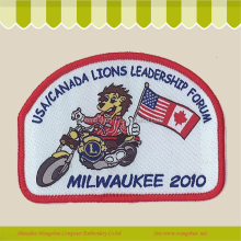 Custom embroidery design iron on motorcycle patches