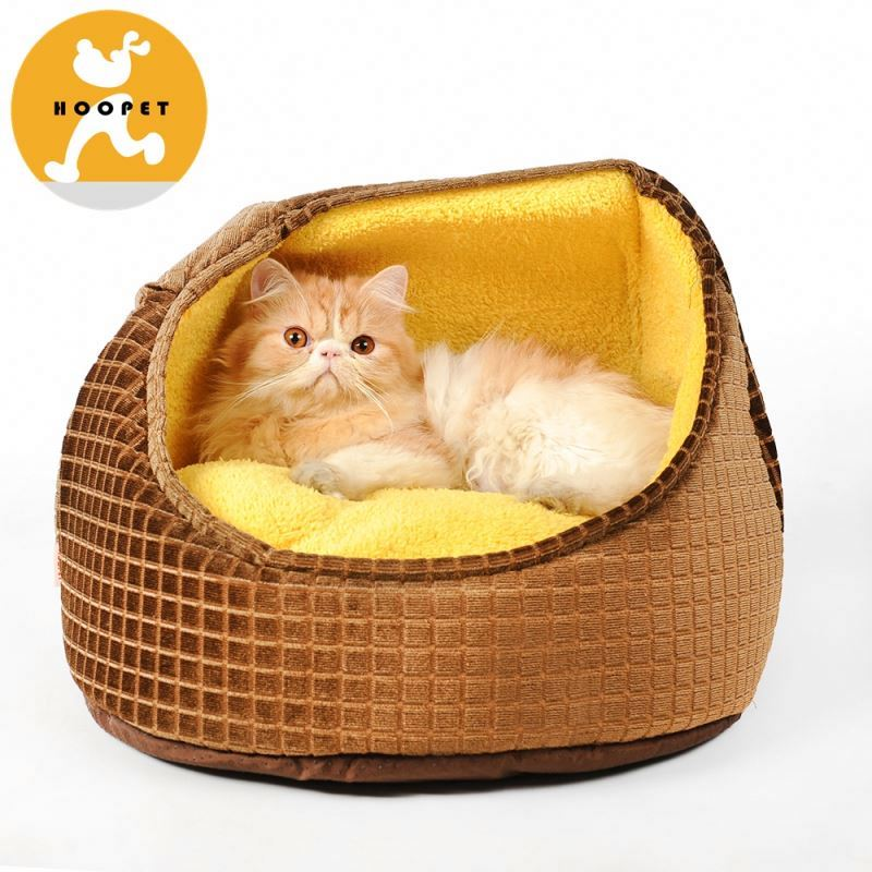 Square pattern round sofa bed luxury pet dog beds with cushion