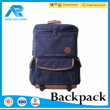 New canvas waterproof foldable backpack for student laptop bag
