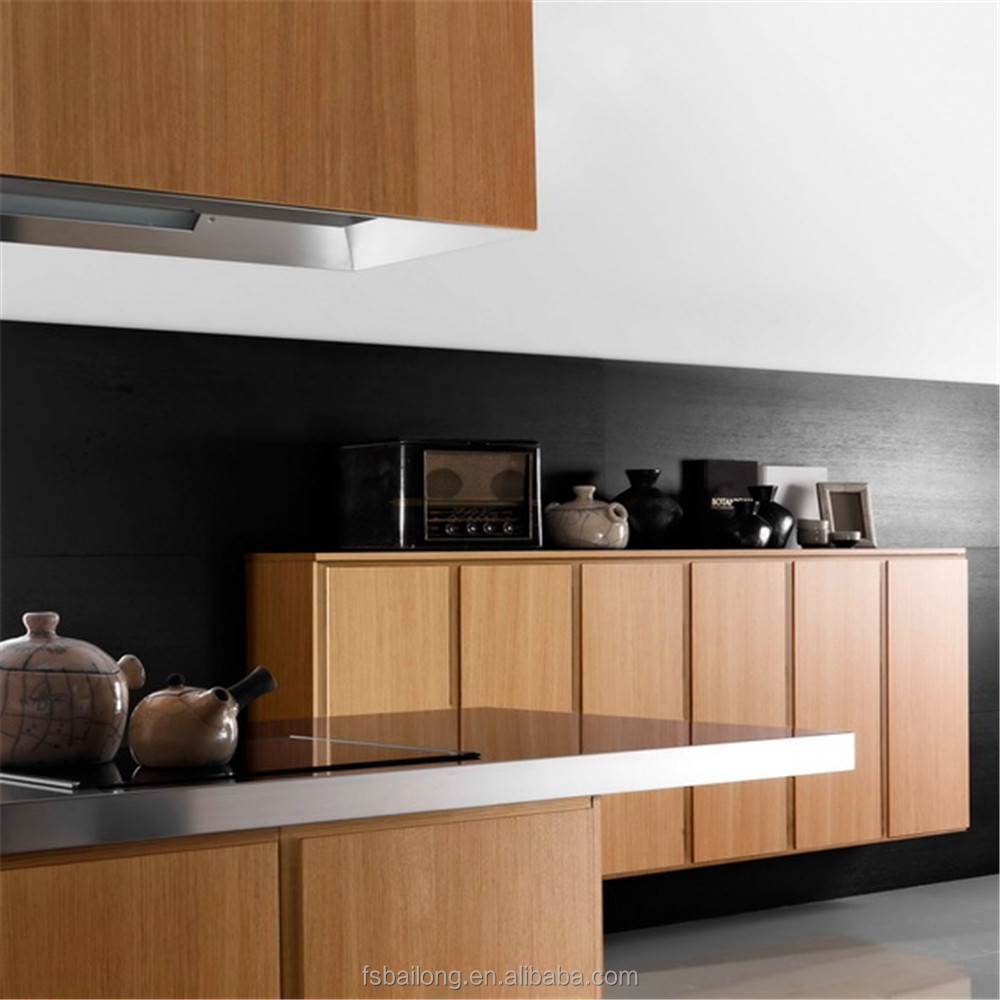 Hotel plywood kitchen cabinets made in China for project use