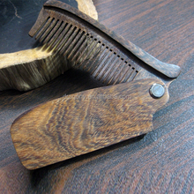 fancy custom logo black wingceltis sandal wooden beard knife folding pocket v comb