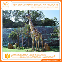 Factory customized animal statue in different sizes giraffes statue