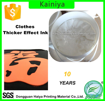 High Density Screen Printing Thicker Effect Water Based Ink