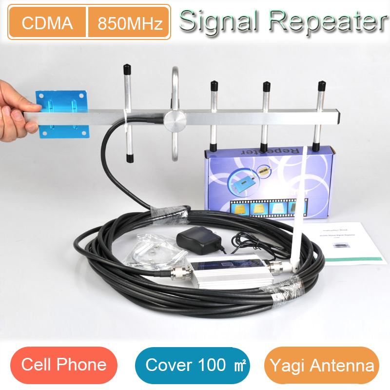 Home &office use 3dB whip antenna cdma 850mhz signal repeater with full accessories for cell phone