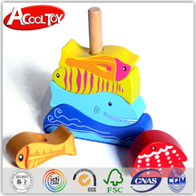 2016 most popular products fish game baby modern wooden toy