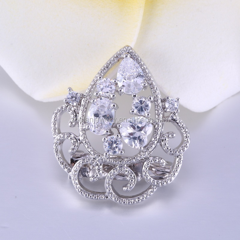 China wholesale flower brooch cloth art fashion brooches for women