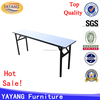 Heavy-duty tiffany event black round or square banquet folding table wholesale in hotel table for wedding