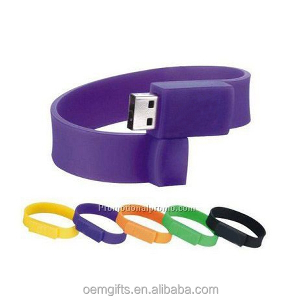 Promotional USB Silicone Wristband 128 MB USB Flash Drive