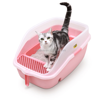 Luxury Cat Litter Box cat toliet with Free Scoop pet product