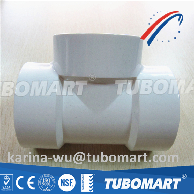 2016 hot sale china supplier pvc fitting upvc tee for cold water supply with reasonable price