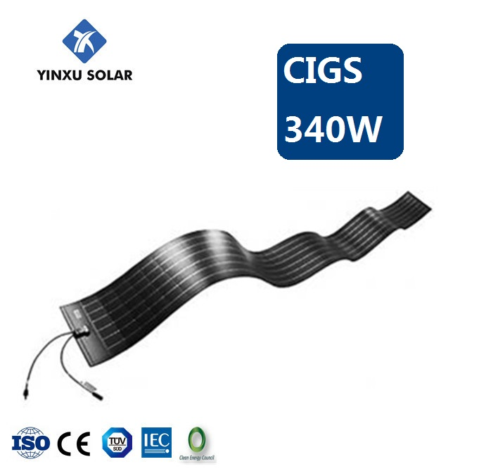 CIGS solar module 340w thin film solar cell amorphous flexible solar panel