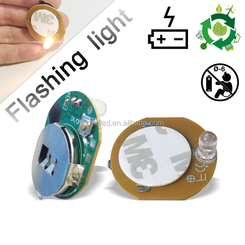 shenzhen good quality battery powered led flashing pixel bulb CE RoHS pocket-size flashing small light