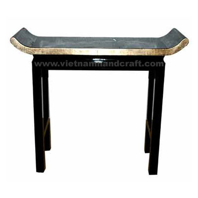 Quality eco-friendly traditionally hand finished vietnamese lacquer bamboo home furniture in black & light gold
