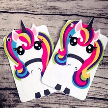 2018 new rubber 3d cartoon white unicorn case for ipad 2/3/4 silicone cartoon back cover